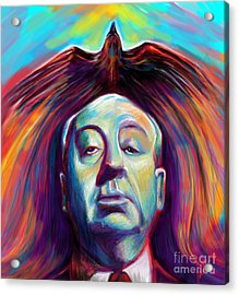 Alfred Hitchcock Acrylic Print by Julianne Black