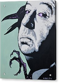 Alfred Hitchcock Acrylic Print by Victor Minca