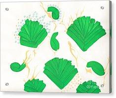 Algae Blooms Acrylic Print by Mary Mikawoz