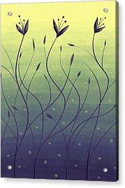 Algae Plants In Green Water Acrylic Print