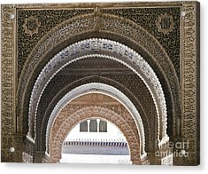 Alhambra Arches Acrylic Print by Jane Rix