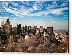 Alhambra Over Granada Acrylic Print