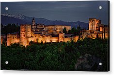 Alhambra Sunset Acrylic Print