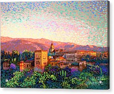Alhambra, Grenada, Spain Acrylic Print by Jane Small