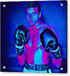 Ali Graphic Abstract Acrylic Print by Dan Sproul