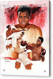 Acrylic Print featuring the painting Ali by Joe Winkler