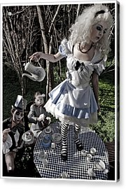 Alice And Friends 1 Acrylic Print by Kelly Jade King