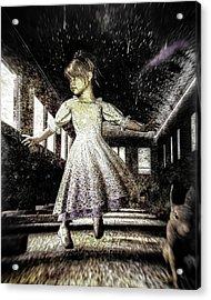 Alice And The Rabbit Acrylic Print by Bob Orsillo
