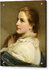 Alice Acrylic Print by Henry Tanworth Wells