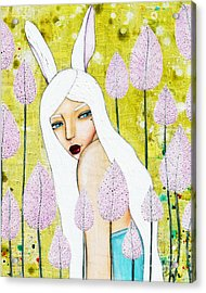 Acrylic Print featuring the mixed media Alice In Oz by Natalie Briney