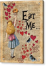 Alice In The Wonderland Eat Me Muffin  Acrylic Print
