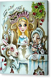 Alice In Wonderland 1 Acrylic Print by Lucia Stewart