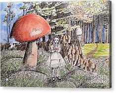 Alice In Wonderland 2 Acrylic Print by Keiko Olds