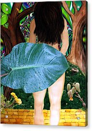 Alice Leaves Oz Acrylic Print by Misha Bean