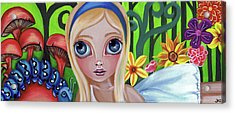 Alice Meets The Caterpillar Acrylic Print by Jaz Higgins