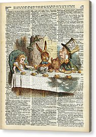 Alice Morning Tea Time Acrylic Print