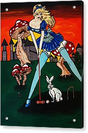 Alice's  In Wonderland Acrylic Print by Nora Shepley