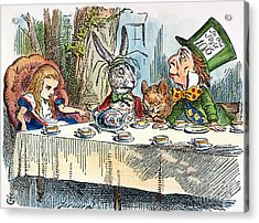 Alices Mad-tea Party, 1865 Acrylic Print