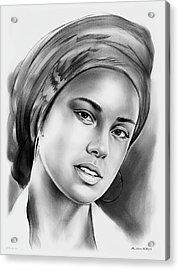 Alicia Keys 2 Acrylic Print