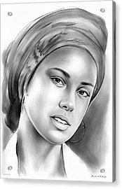Alicia Keys Acrylic Print