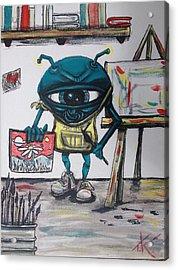 Alien Artist Acrylic Print