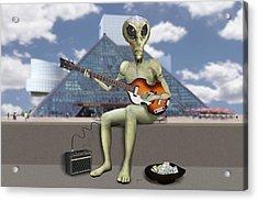 Alien Bass Guitarist  Acrylic Print