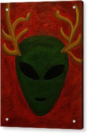 Alien Deer Acrylic Print by Lola Connelly