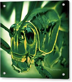 Alien Acrylic Print by DigiArt Diaries by Vicky B Fuller