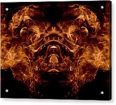 Alien Dog Acrylic Print by Val Black Russian Tourchin
