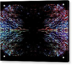 Alien Face Off Acrylic Print by Samantha Thome