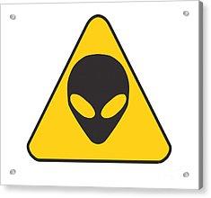 Alien Grey Graphic Acrylic Print