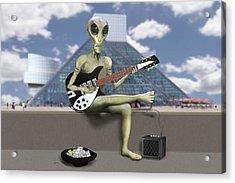 Alien Guitarist 1 Acrylic Print