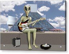 Alien Guitarist 2 Acrylic Print