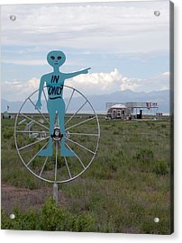 Alien In Only 1 Acrylic Print by Joseph R Luciano