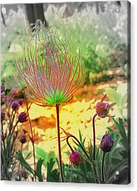 Alien In The Garden Acrylic Print by Julie Lueders