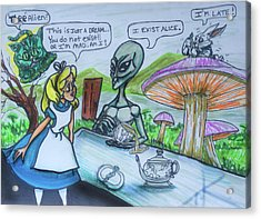 Alien In Wonderland Acrylic Print