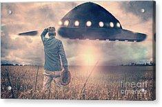 Alien Invasion Acrylic Print by Edward Fielding