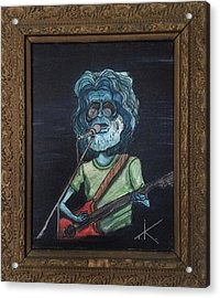Acrylic Print featuring the painting Alien Jerry Garcia by Similar Alien