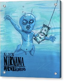 Acrylic Print featuring the painting Alien Nevermind by Similar Alien