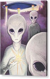 Alien Offering Acrylic Print by Amy S Turner