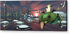 Alien Planet Acrylic Print by Mary Almond