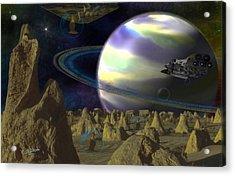 Alien Repose Acrylic Print
