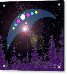 Acrylic Print featuring the painting Alien Skies by James Williamson
