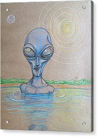 Alien Submerged Acrylic Print