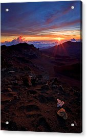 Alien Sunrise Acrylic Print by Mike  Dawson