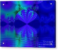 Alien Sunset Over Fantasy Lake Acrylic Print