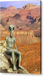 Alien Vacation - Grand Canyon Acrylic Print by Mike McGlothlen