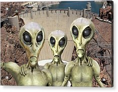Alien Vacation - Hoover Dam Acrylic Print by Mike McGlothlen