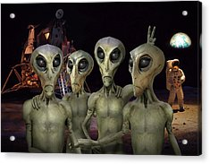 Alien Vacation - Kennedy Space Center Acrylic Print by Mike McGlothlen