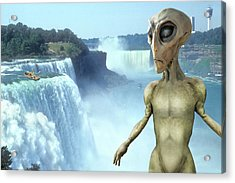 Alien Vacation - Niagara Falls Acrylic Print by Mike McGlothlen